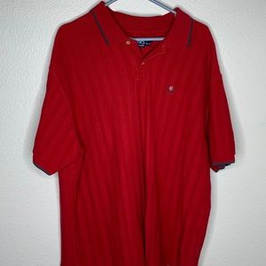 Red Chaps by Polo Short Sleeve Polo Shirt
